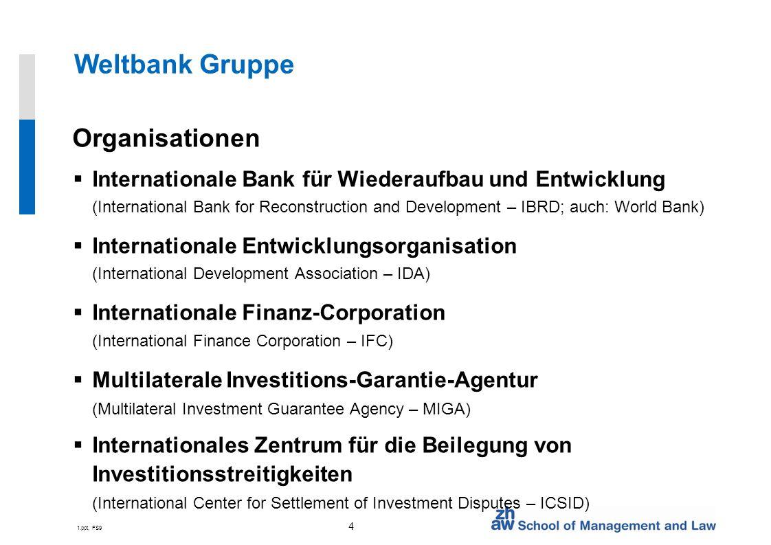 Weltbank Gruppe Organisationen