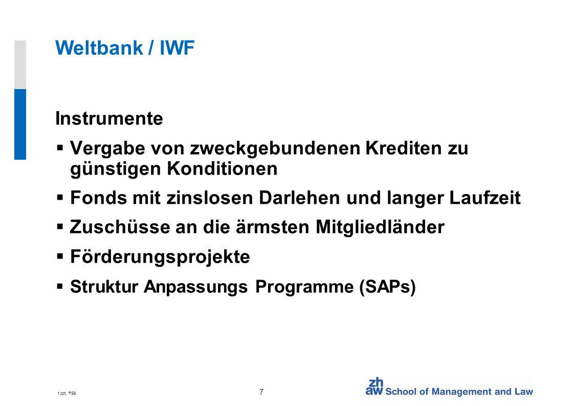 Weltbank / IWF Instrumente