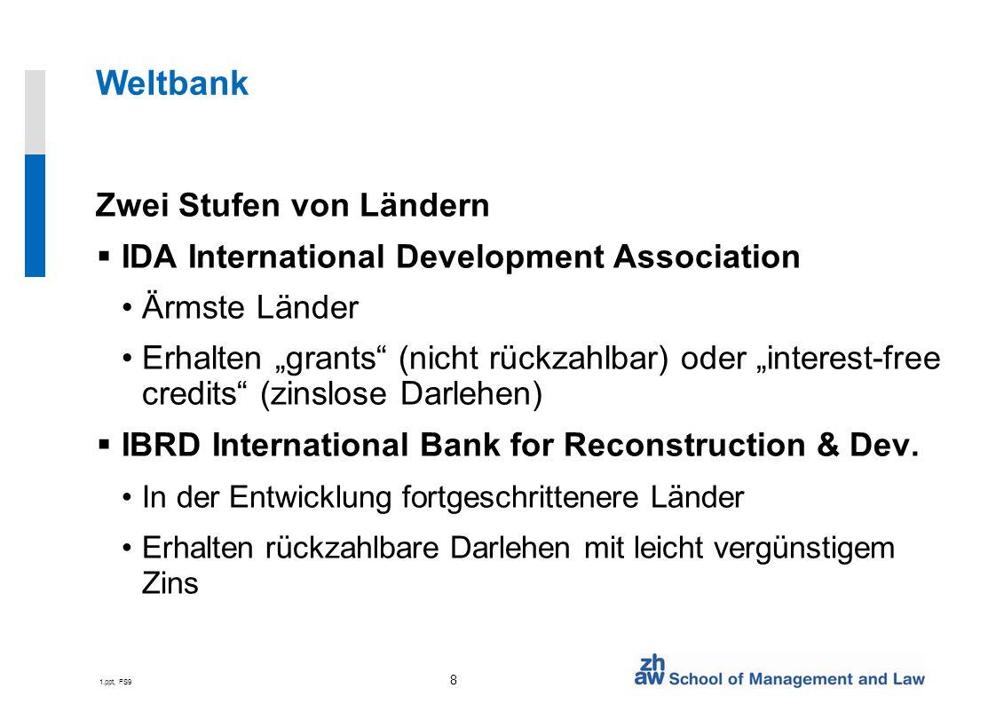 Weltbank Zwei Stufen von Ländern