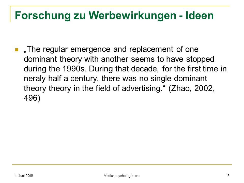 Forschung zu Werbewirkungen - Ideen