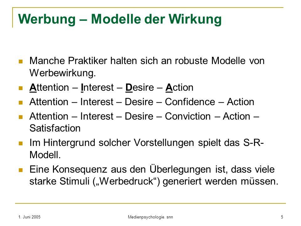 Werbung – Modelle der Wirkung