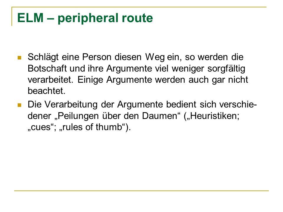 ELM – peripheral route