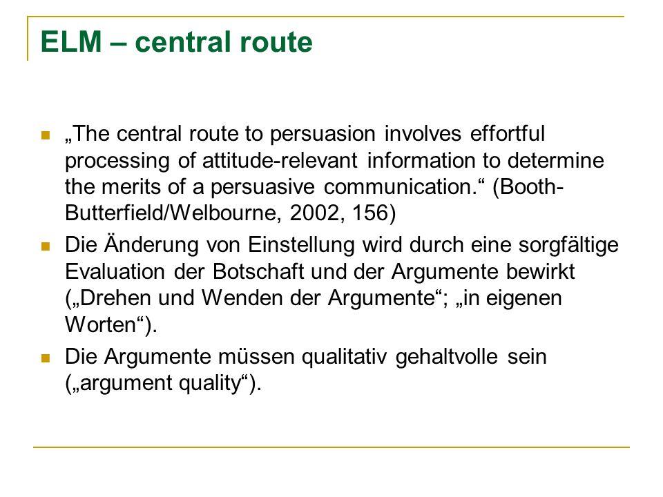 ELM – central route