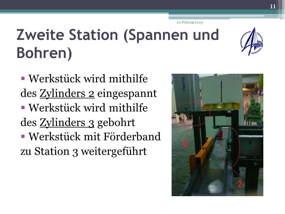 Zweite Station (Spannen und Bohren)