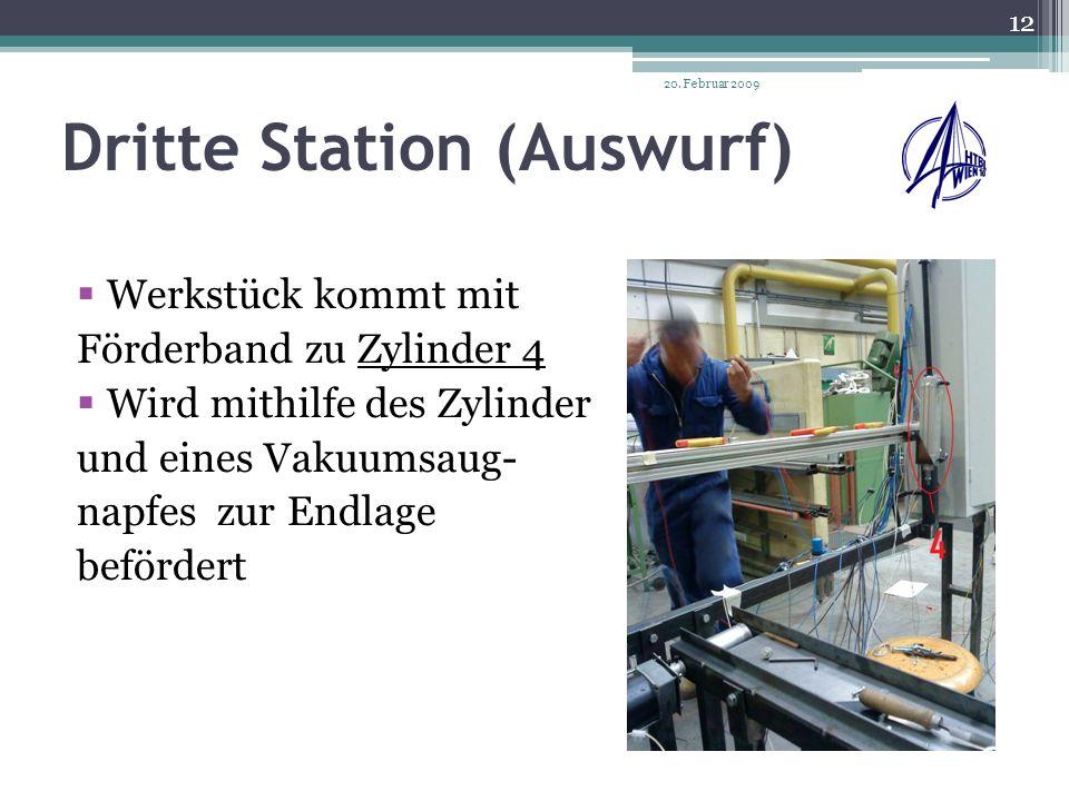 Dritte Station (Auswurf)