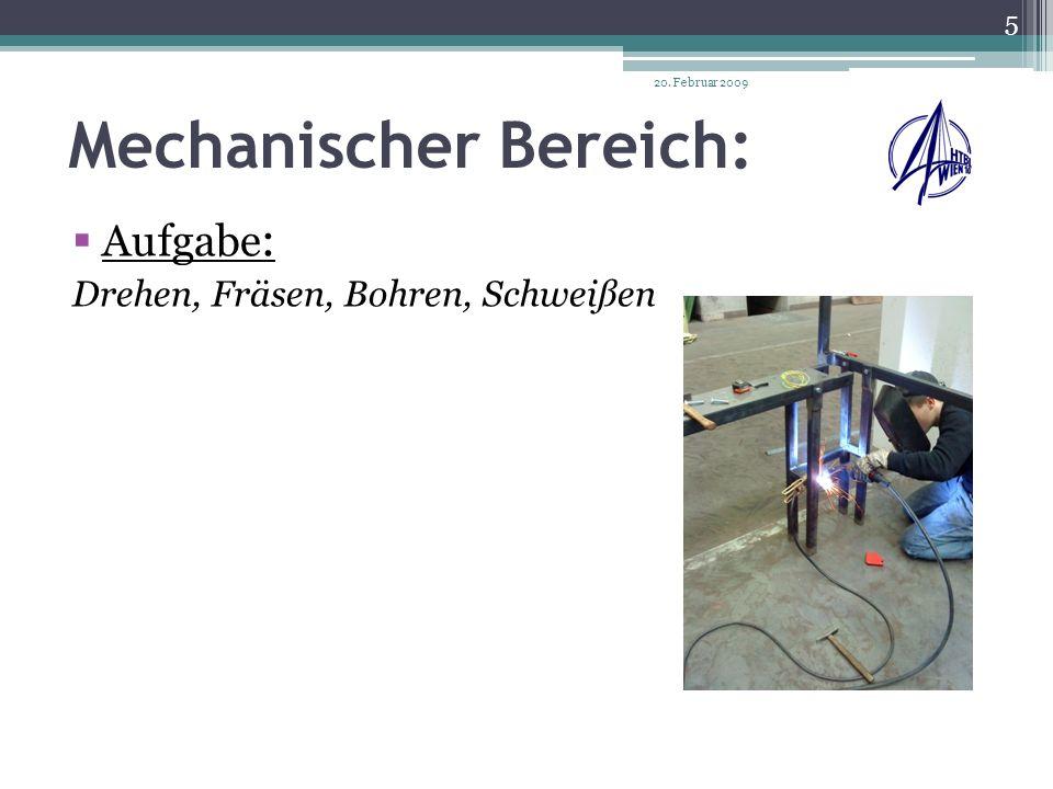 Mechanischer Bereich: