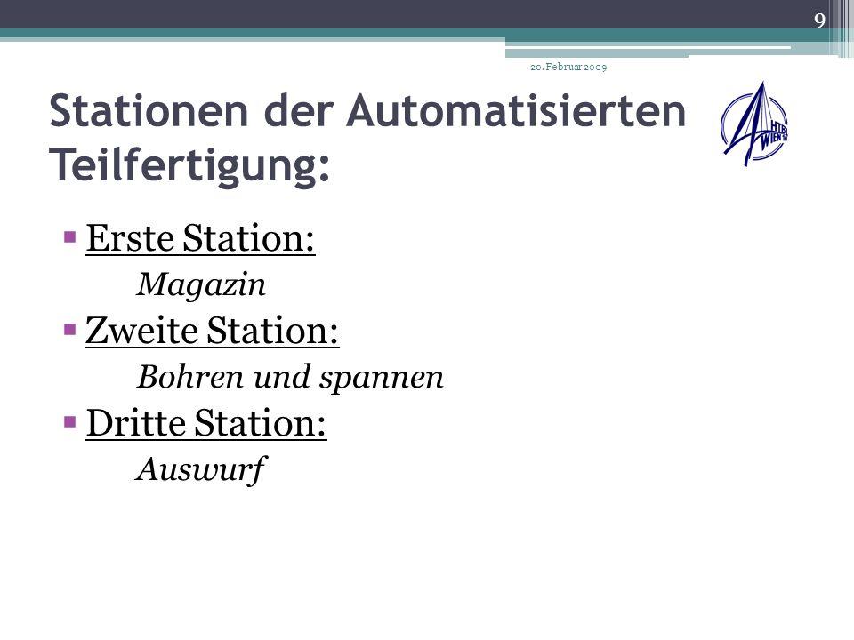 Stationen der Automatisierten Teilfertigung:
