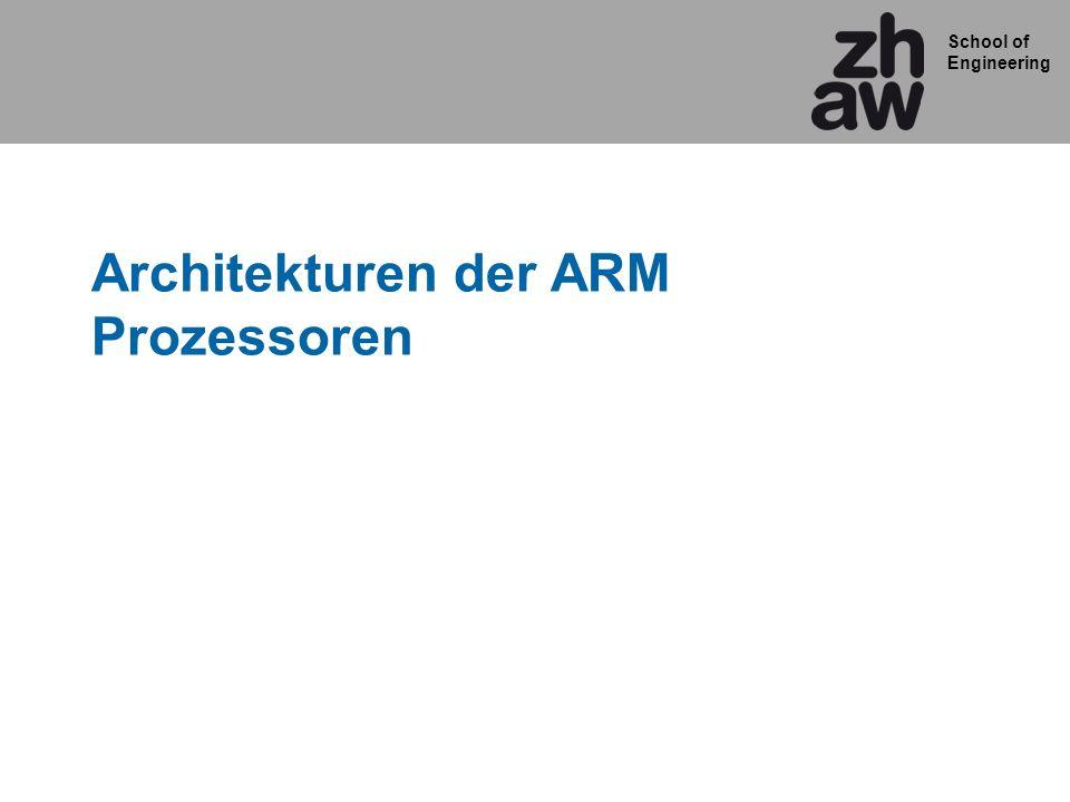 Architekturen der ARM Prozessoren