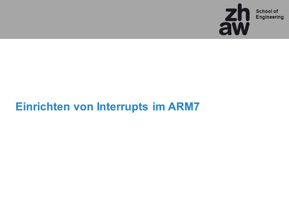 Einrichten von Interrupts im ARM7