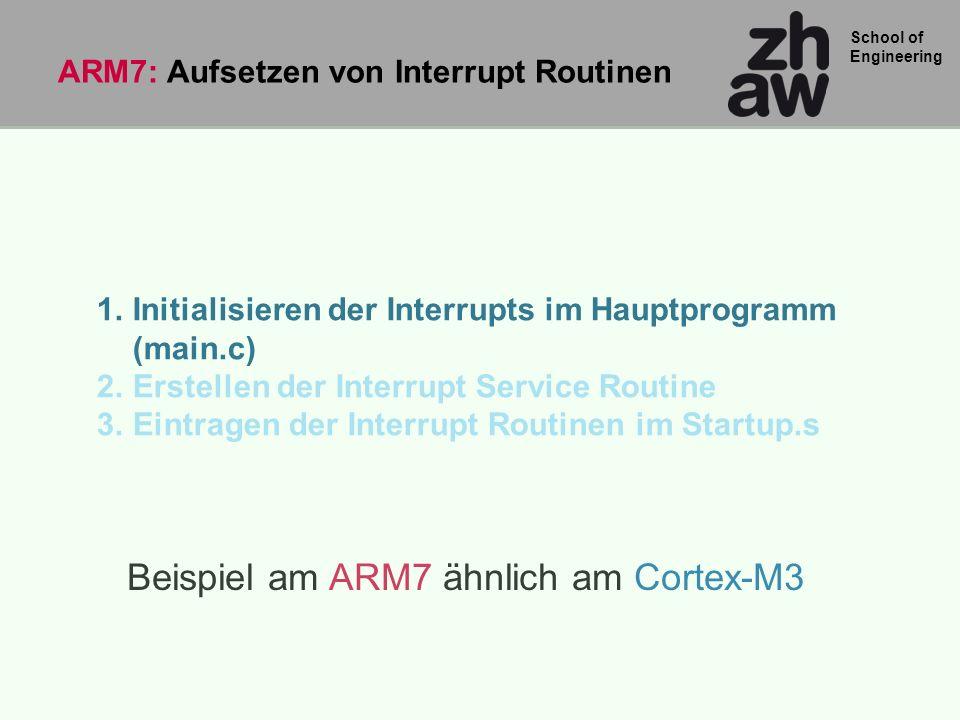 ARM7: Aufsetzen von Interrupt Routinen