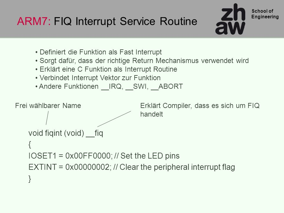 ARM7: FIQ Interrupt Service Routine