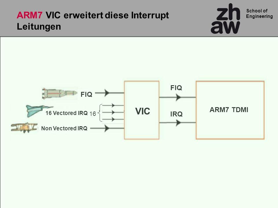 ARM7 VIC erweitert diese Interrupt Leitungen