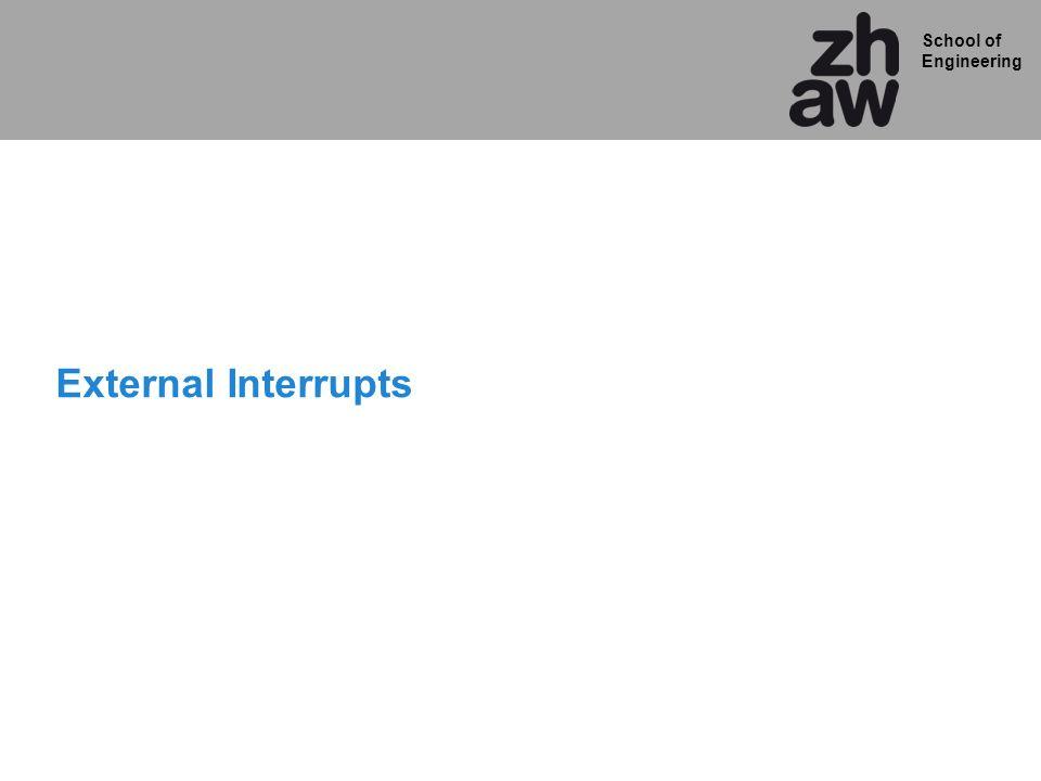 External Interrupts
