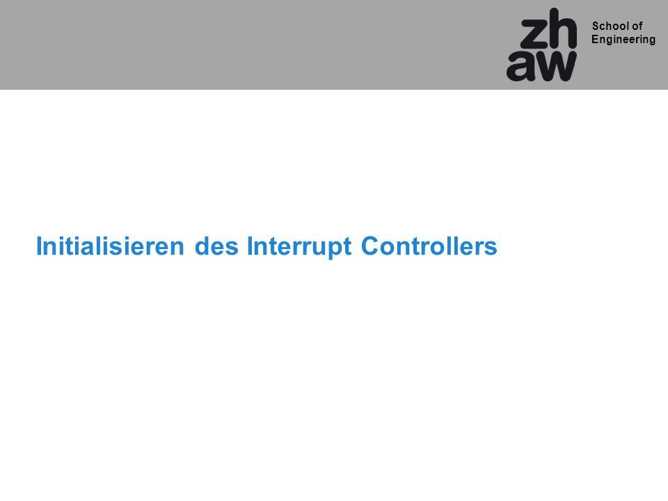 Initialisieren des Interrupt Controllers