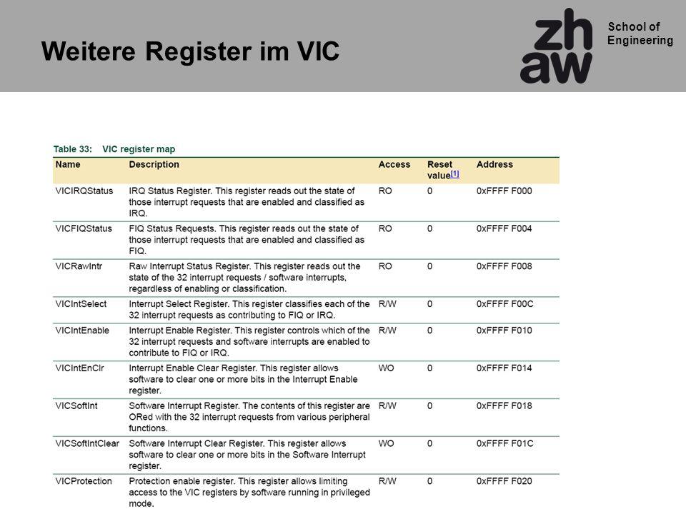 Weitere Register im VIC