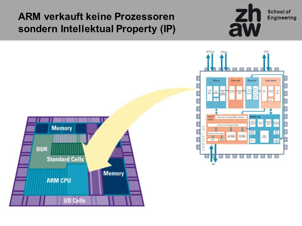 ARM verkauft keine Prozessoren sondern Intellektual Property (IP)
