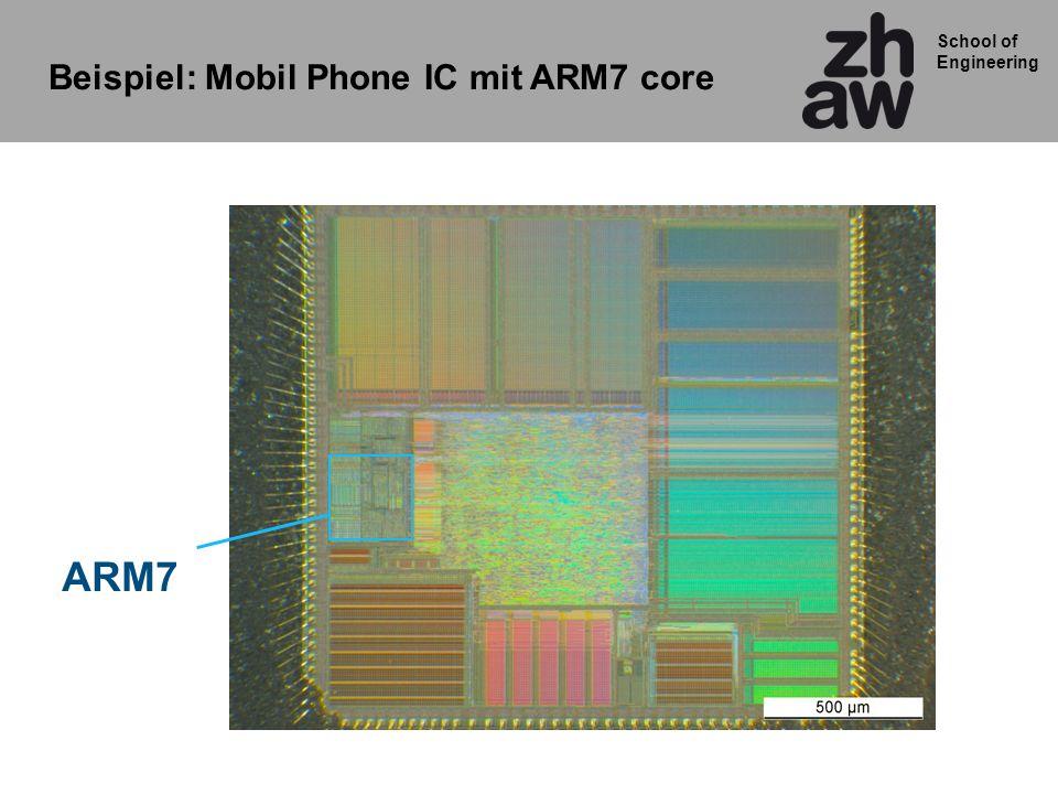 Beispiel: Mobil Phone IC mit ARM7 core