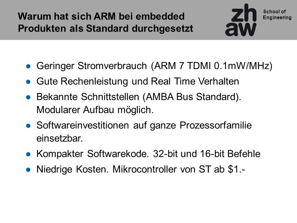 Warum hat sich ARM bei embedded Produkten als Standard durchgesetzt