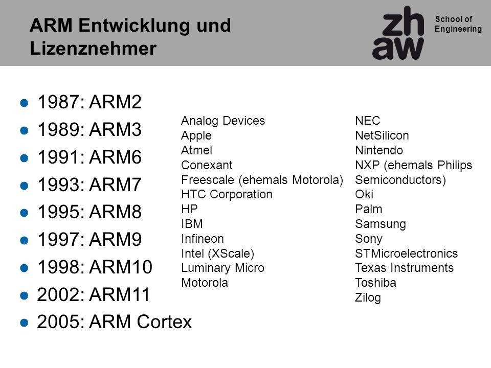 ARM Entwicklung und Lizenznehmer