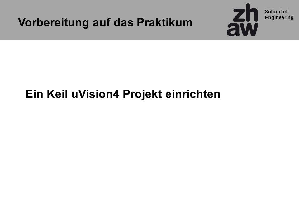 Ein Keil uVision4 Projekt einrichten