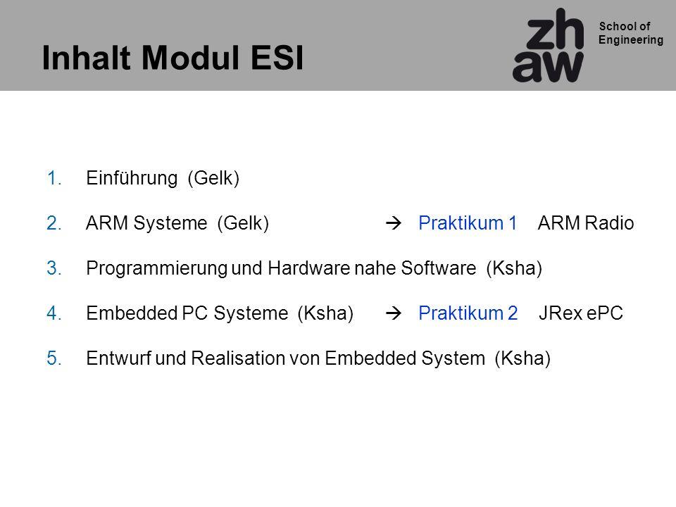 Inhalt Modul ESI Einführung (Gelk)