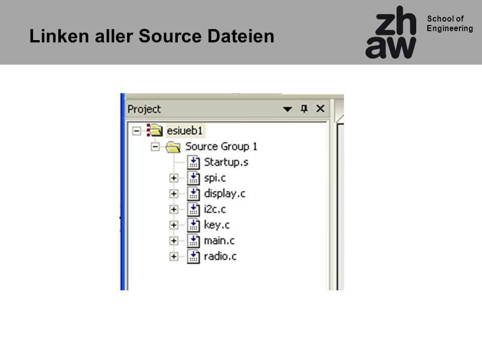 Linken aller Source Dateien