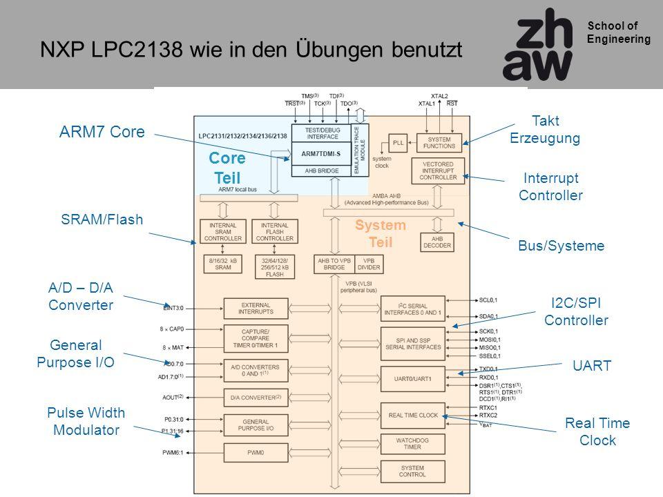 NXP LPC2138 wie in den Übungen benutzt