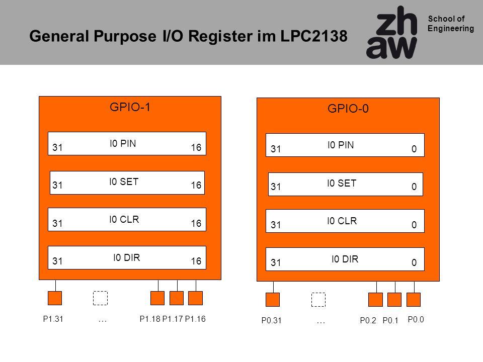 General Purpose I/O Register im LPC2138