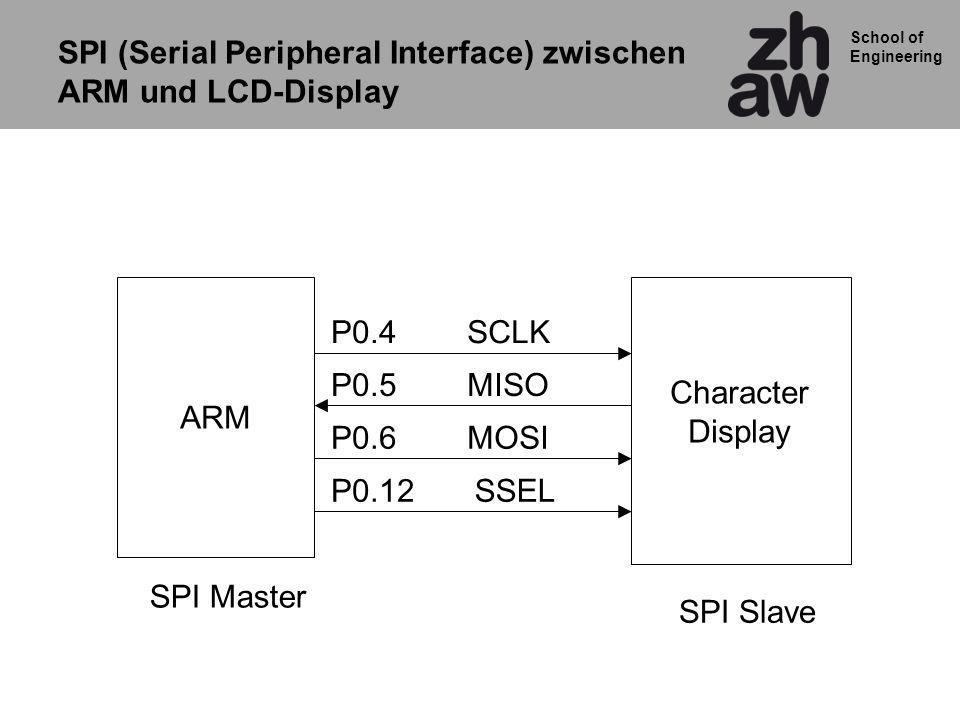 SPI (Serial Peripheral Interface) zwischen ARM und LCD-Display