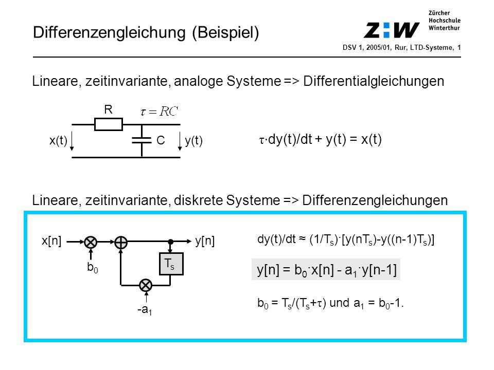 Differenzengleichung (Beispiel)