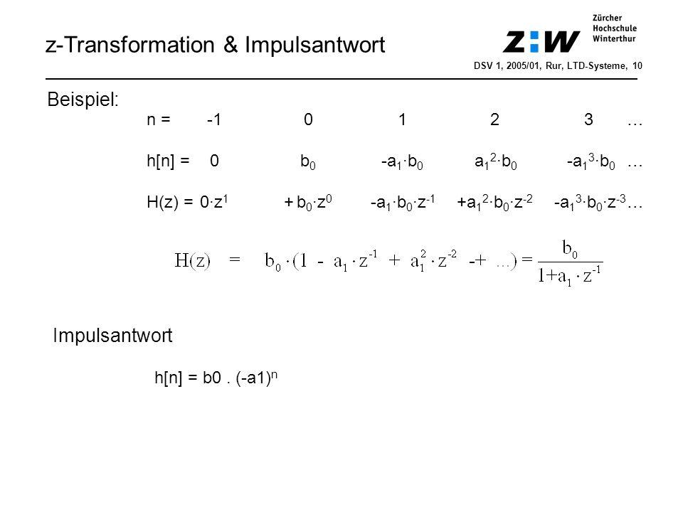 z-Transformation & Impulsantwort