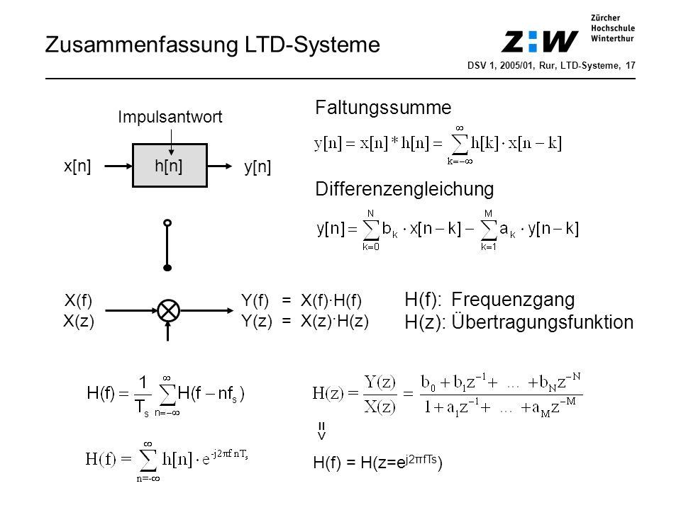 Zusammenfassung LTD-Systeme