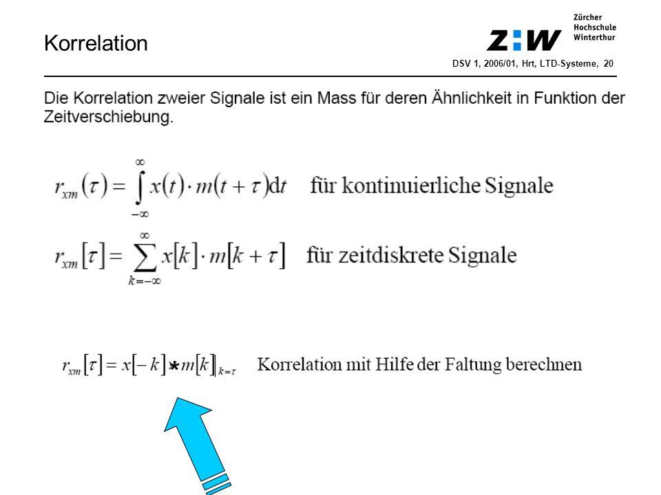 Korrelation DSV 1, 2006/01, Hrt, LTD-Systeme, 20 *