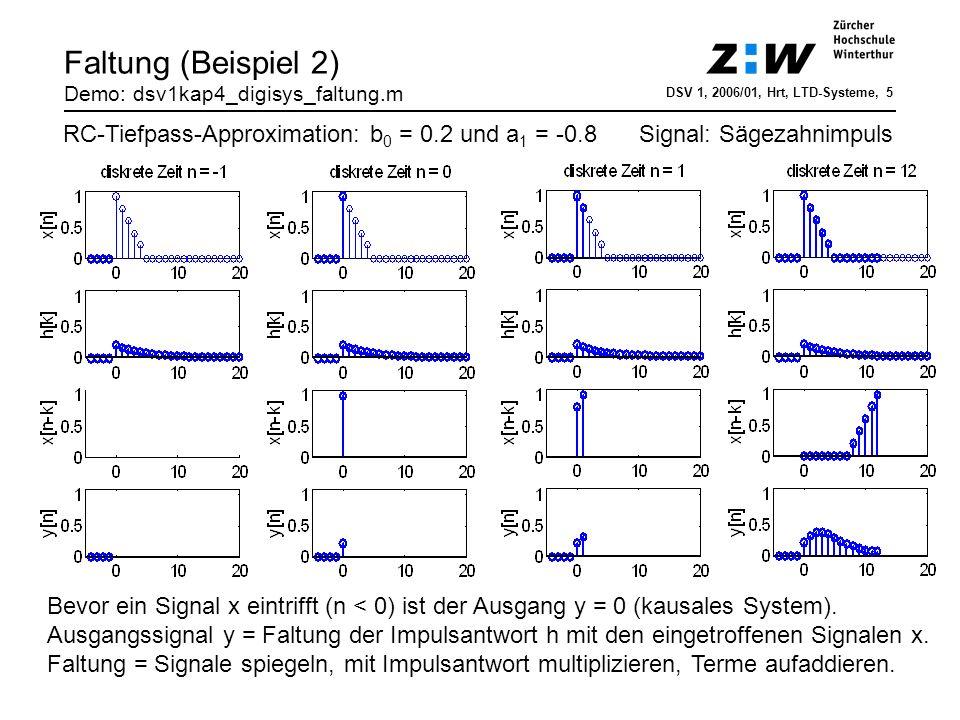 Faltung (Beispiel 2) Demo: dsv1kap4_digisys_faltung.m