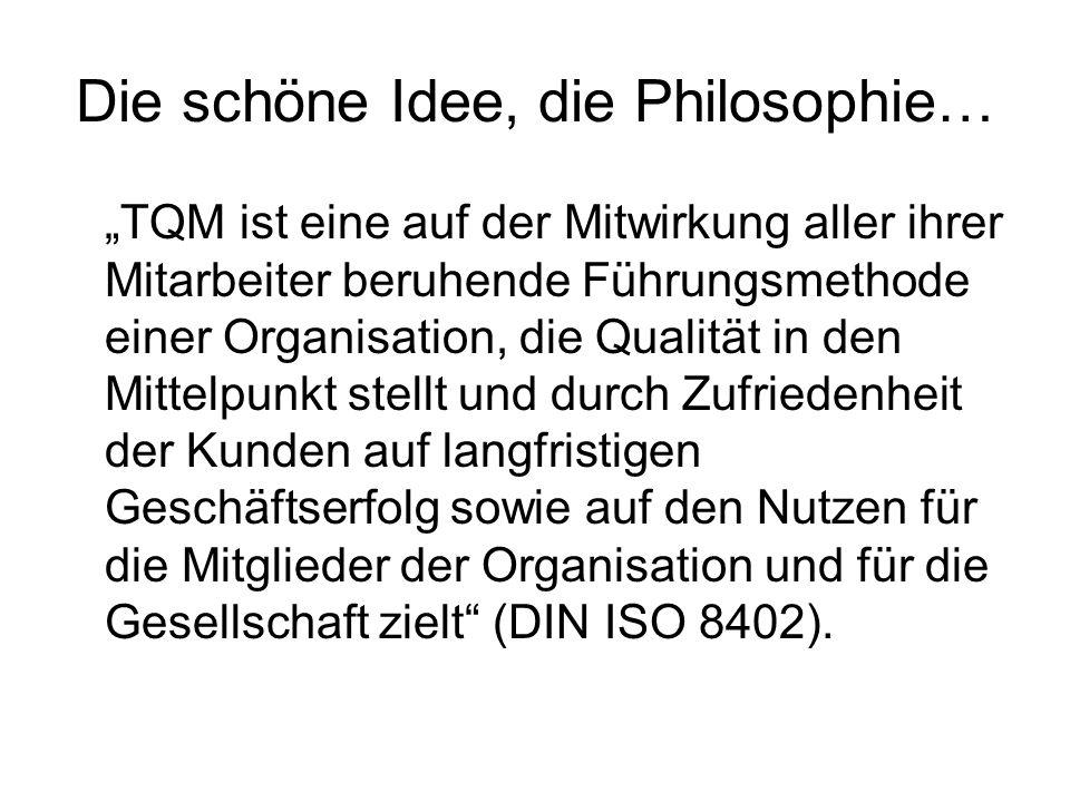 Die schöne Idee, die Philosophie…