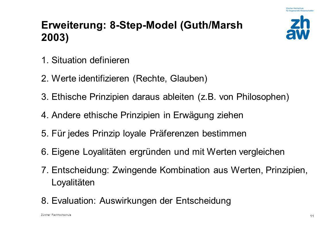 Erweiterung: 8-Step-Model (Guth/Marsh 2003)
