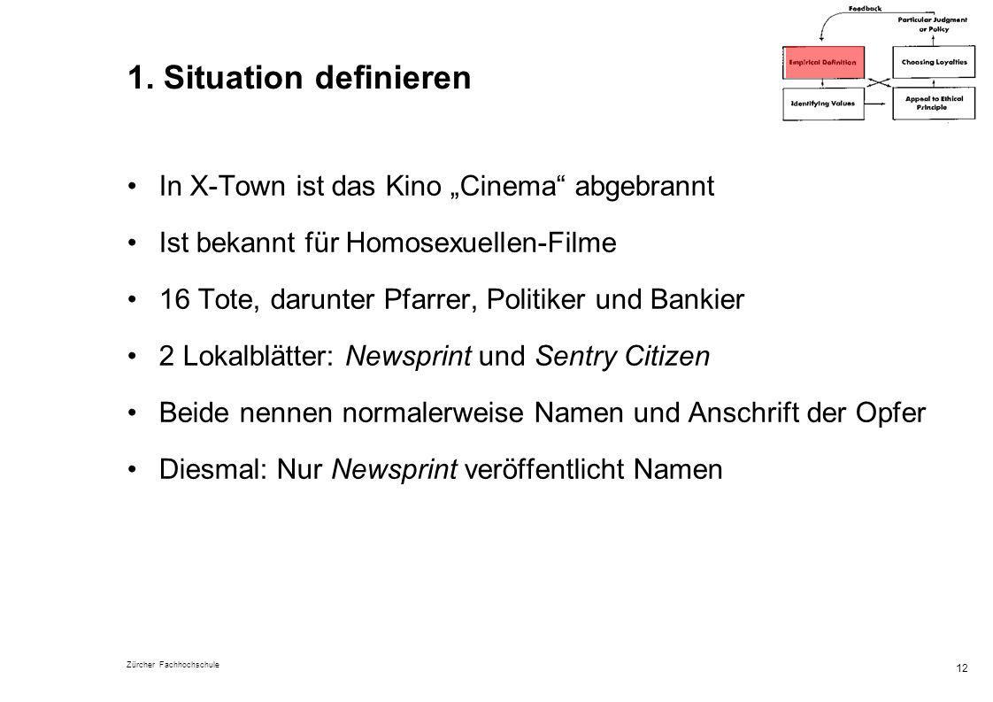 """1. Situation definieren In X-Town ist das Kino """"Cinema abgebrannt"""