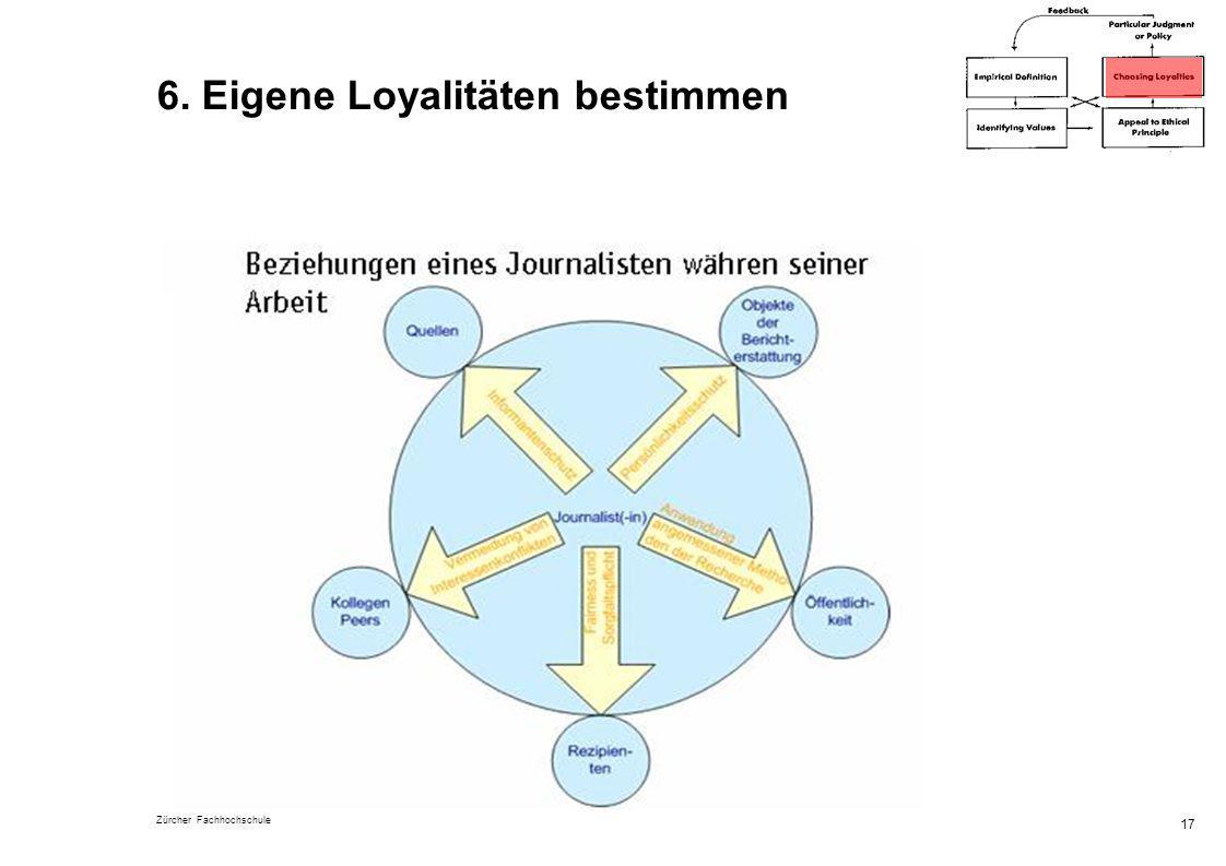 6. Eigene Loyalitäten bestimmen