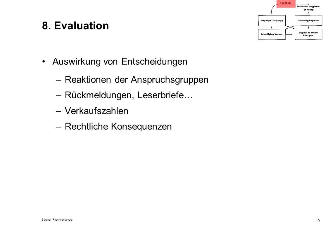 8. Evaluation Auswirkung von Entscheidungen