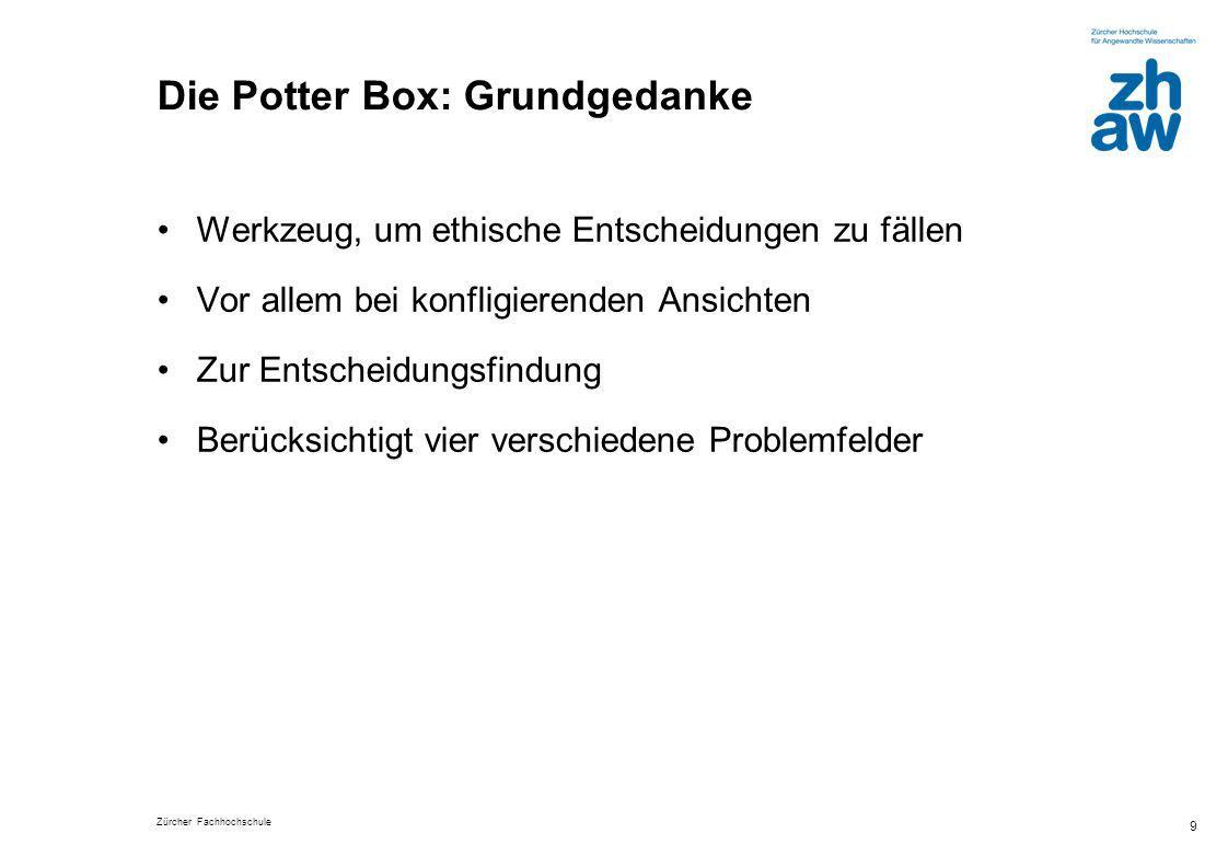 Die Potter Box: Grundgedanke