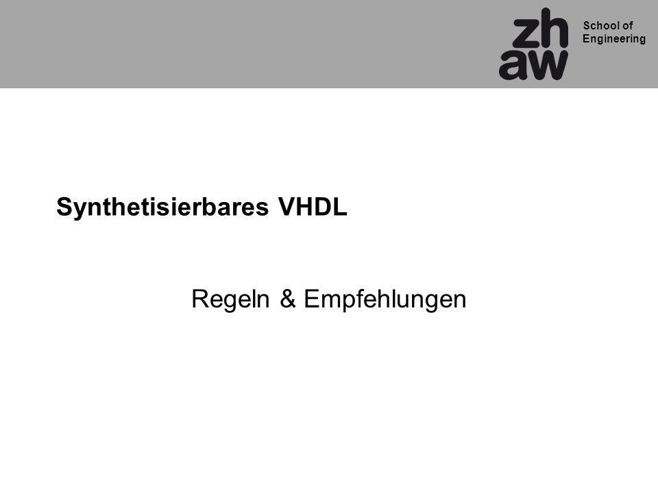 Synthetisierbares VHDL