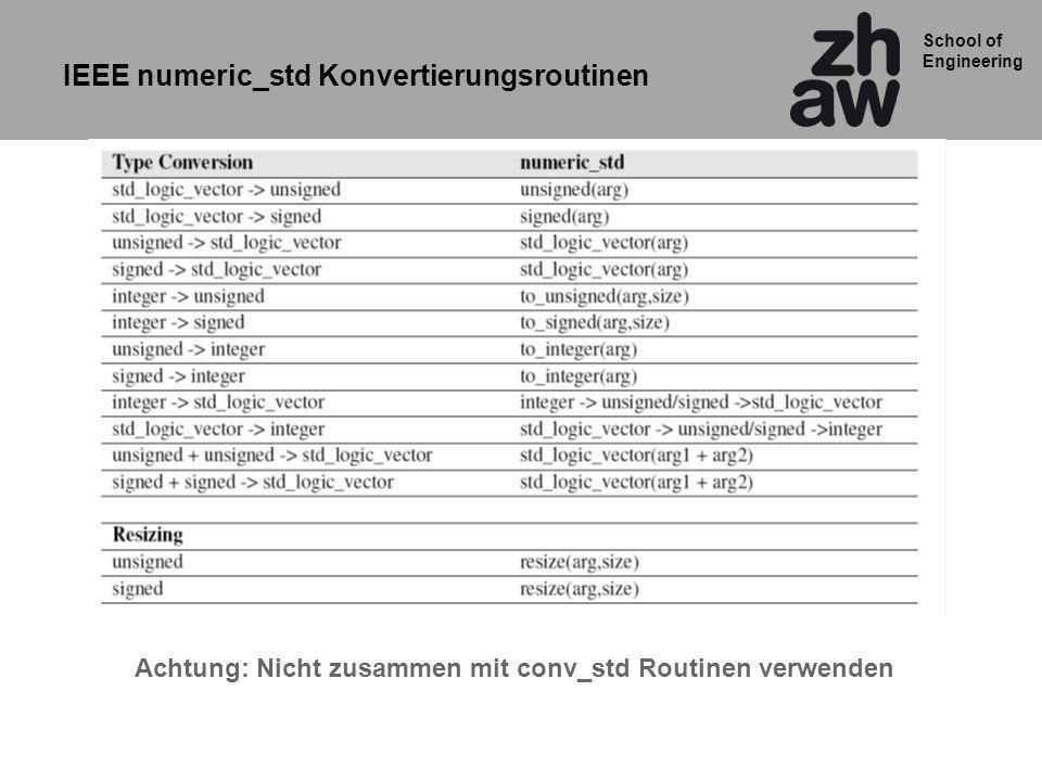 IEEE numeric_std Konvertierungsroutinen