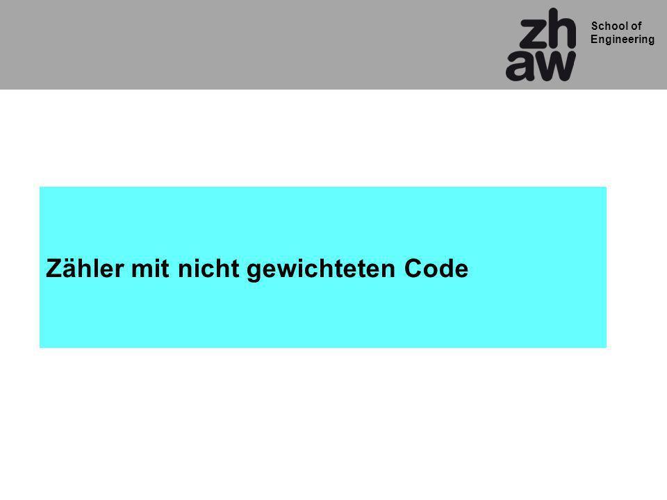 Zähler mit nicht gewichteten Code