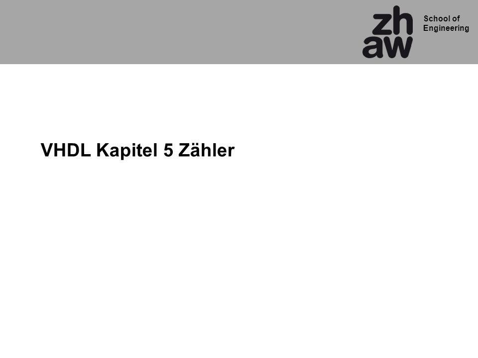 VHDL Kapitel 5 Zähler