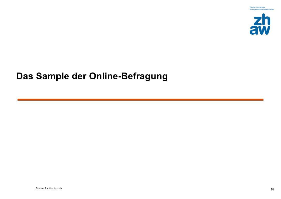 Das Sample der Online-Befragung