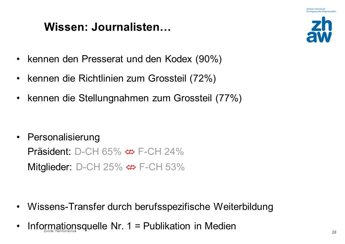 Wissen: Journalisten…
