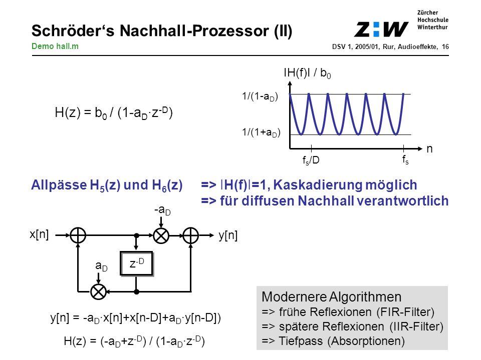 Schröder's Nachhall-Prozessor (II)