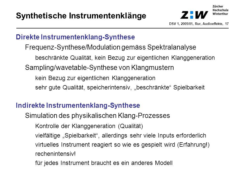 Synthetische Instrumentenklänge