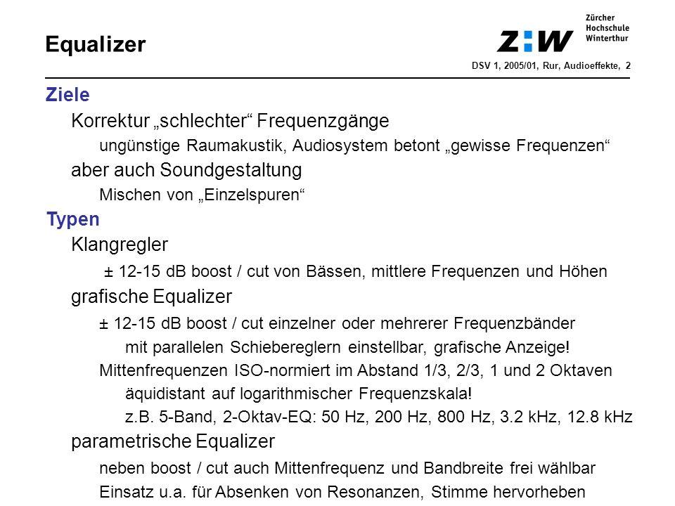 """Equalizer Ziele Korrektur """"schlechter Frequenzgänge"""