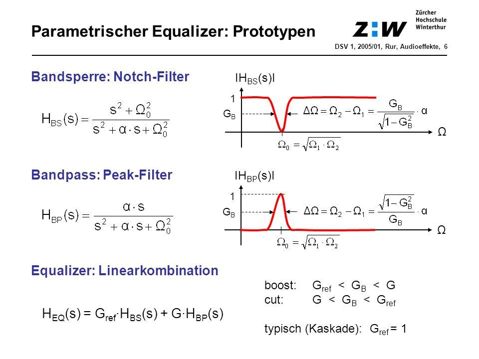 Parametrischer Equalizer: Prototypen